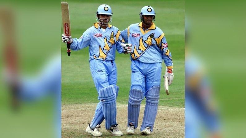 সৌরভ-রাহুলের ৩১৮ রানের দুর্দান্ত পার্টনারশিপের রেকর্ড ভারতীয় ক্রিকেট ইতিহাসে আজও রয়েছে স্বমহিমায়। (সৌজন্যে-টুইটার)