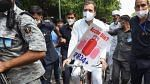Rahul Gandhi leads a bicycle rally at Delhi as protest